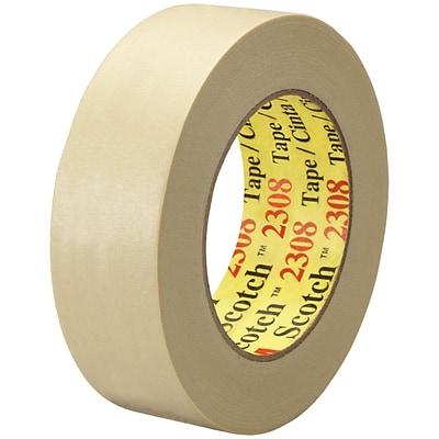 3M™ Scotch  2308 Masking Tape, 1 1/2 x 60 yds., Natural, 24/Case (06547-5)