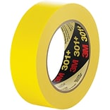 3M™ 301+ Masking Tape; 1/2 x 60 yds., Yellow, 72/Case (64749-9)