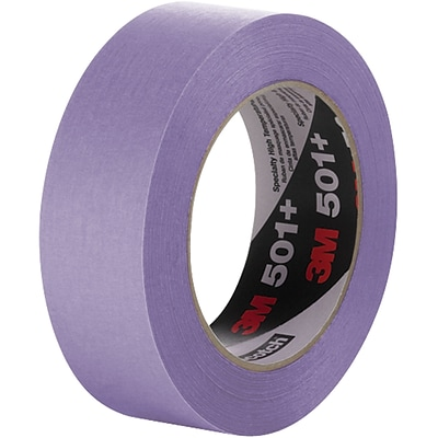 3M™ 501+ Masking Tape, 1 1/2 x 60 yds., Purple, 12/Case (T93650112PK)