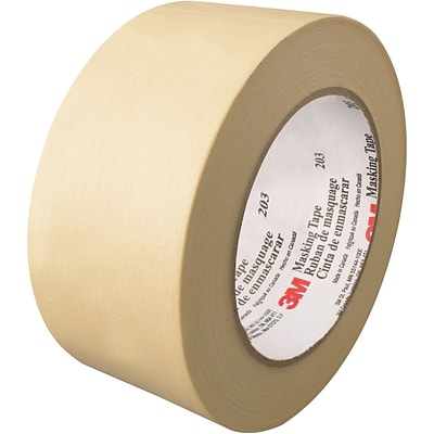 3M™ 203 Masking Tape, 2 x 60 yds., Natural, 12/Case (T93720312PK)