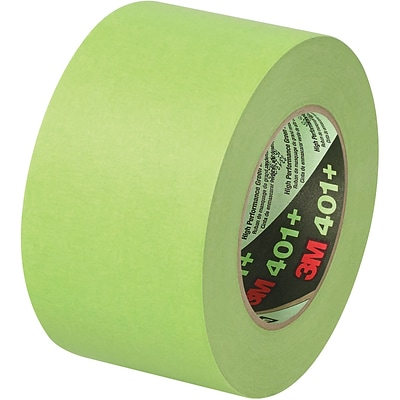 3M™ 401+/233+ Masking Tape, 3 x 60 yds., Green, 8/Case (64764-2)