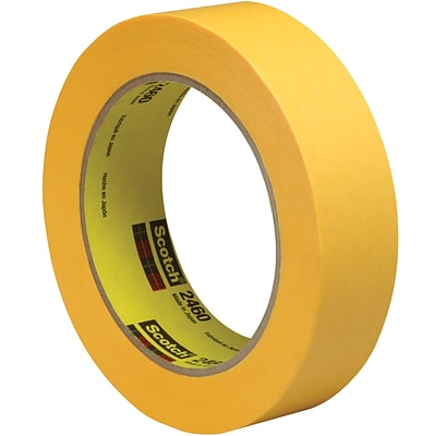 3M™ Scotch  2460 Flatback Tape, 1 x 60 yds., Gold, 12/Case (T945246012PK)