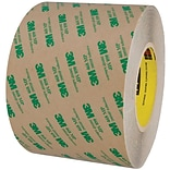 3M™ 468MP Adhesive Transfer Tape; Hand Rolls, 6 x 60 yds., Clear, 1/Case (T96064681PK)