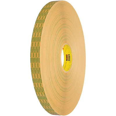3M™ Scotch  465XL Adhesive Transfer Tape, Hand Rolls, 1/2 x 60 yds., Clear, 6/Case (T963465XL6PK)