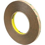 3M™ Scotch  9472LE Adhesive Transfer Tape; Hand Rolls, 1/2 x 60 yds., Clear, 3/Case (T96394723PK)