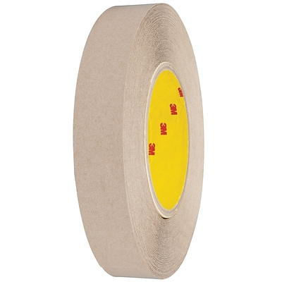 3M™ 9627 Adhesive Transfer Tape, Hand Rolls, 1 x 60 yds., Clear, 36/Case (91986-6)