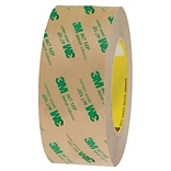 3M™ 467MP Adhesive Transfer Tape, Hand Rolls, 2 x 60 yds., Clear, 24/Case (19333-0)