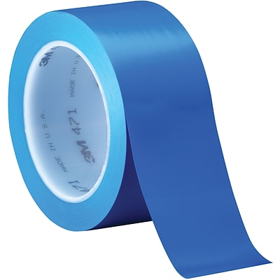 3M™ 471 Vinyl Tape, 2 x 36 yds., Blue, 24/Case (04308-6)