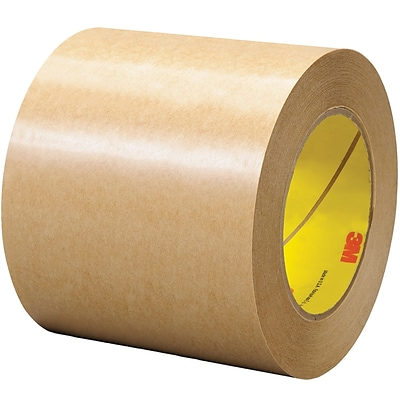 3M™ 465 Adhesive Transfer Tape, Hand Rolls, 4 x 60 yds., Clear, 1/Case (T9694651PK)
