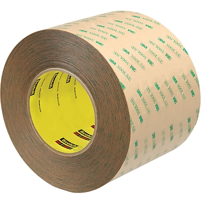 3M™ Scotch  9472LE Adhesive Transfer Tape, Hand Rolls, 4 x 60 yds., Clear, 2/Case (T96994722PK)