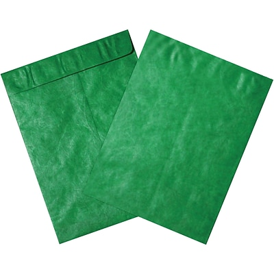 Partners Brand Tyvek Envelopes, 12 x 15 1/2, Green, 100/Case (TYC1215G)