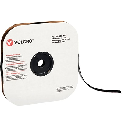 Velcro Tape, Individual Strips, Hook, 3/4 x 75, Black, 1/Case (190940)