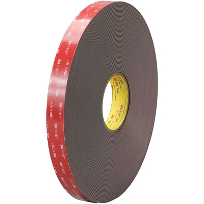 3M™ 4919F VHB™ Tape,1 x 5 yds., Black, 1/Case (VHB491901R)