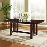 Walker Edison Solid Wood Dining Table; Cappuccino (SPW60MCNO)