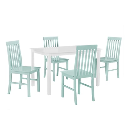 Walker Edison 5-Piece Wood Dining Set; Sage Green (SPW485PCSG)