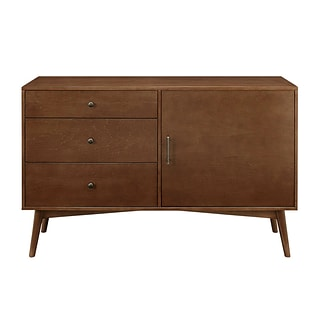 Walker Edison Angelo Home 52 Mid-Century TV Stand; Walnut (AH52CMCWT)