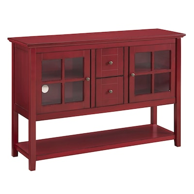"Walker Edison 52"" Console Table Tv Stand; Antique Red (sp52c4ctrd)"