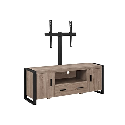 Walker Edison 60 Driftwood TV Stand with Mount (SP60UBC22AG-MT)