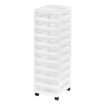 IRIS® 10 Drawer Storage Cart, White (585651)