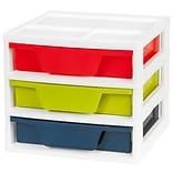 IRIS® 3-Drawer Activity Chest with Organizer Top; 2 Pack (150315)