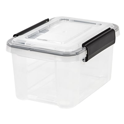 IRIS® 6.5 Quart Weathertight Storage Box, Clear, 6 Pack (110341)