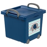 IRIS® Toy Storage Box; Blue, 4 Pack (102783)