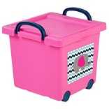 IRIS® Toy Storage Box; Pink, 4 Pack (102784)