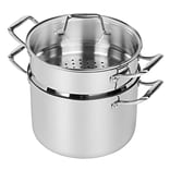 MAKER Homeware 8 Quart Stainless Steel Stockpot with Steamer Insert (591869)
