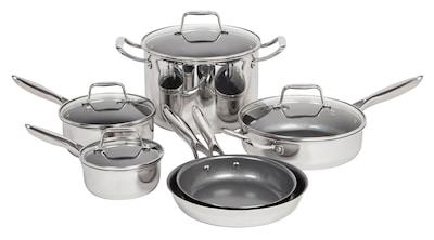 Maker Homeware 10 Piece Stainless Steel Cookware Set (591860)