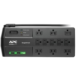 APC P11U2 11-Outlet SurgeArrest® Surge Protector with 2 USB Charging Ports