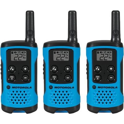 Motorola 16 mile Talkabout T100 2 way Radios Triple Pack