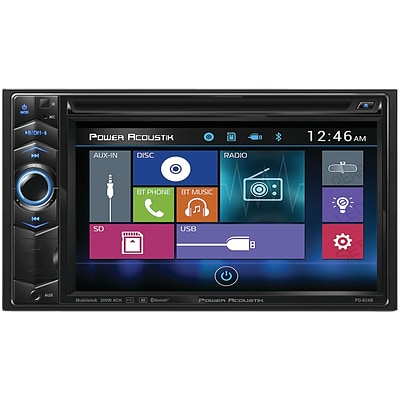 Power Acoustik 6.2 Double-din In-dash LCD Touchscreen DVD Receiver With Bluetooth