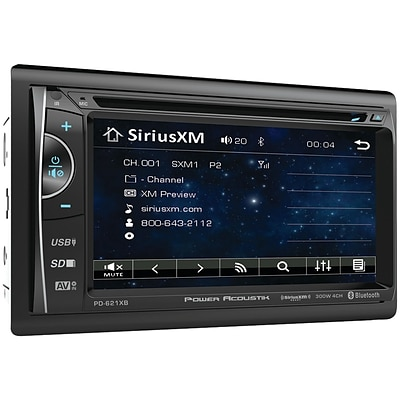 Power Acoustik Pd-621xb 6.2 Incite Double-din In-dash Lcd Touchscreen Dvd Receiver With Bluetooth® & Siriusxm® Ready