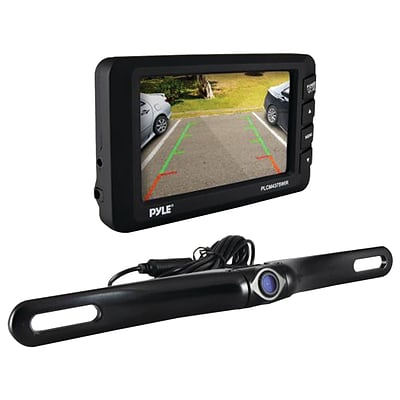 Pyle 4.3 LCD Monitor & Wireless Rearview Backup Camera With Parking/reverse Assist System