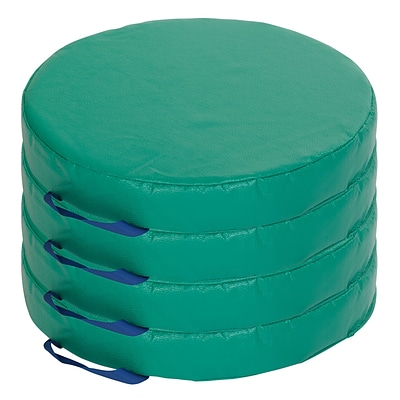 ECR4Kids SoftZone® 4-Piece Round Carry Me Cushion - GN (ELR-12643-GN)