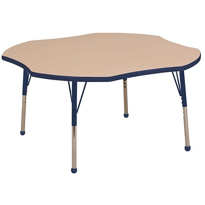 ECR4Kids 48 Clover Table Maple/Navy -Toddler Ball Glide  (ELR-14101-MNV-TB)