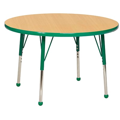 "30"" Round T-Mold Activity Table, Maple/Green/Standard Ball"