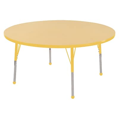 "48"" Round T-Mold Activity Table, Maple/Yellow/Standard Ball"