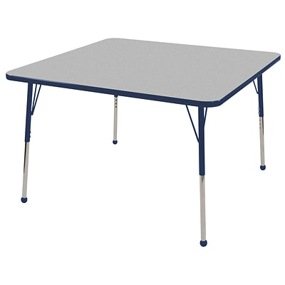 "30"" Square T-Mold Activity Table, Grey/Navy/Standard Ball"