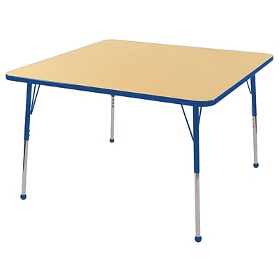 "48"" Square T-Mold Activity Table, Maple/Blue/Toddler Ball"