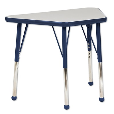 "18""x30"" Trapezoid T-Mold Activity Table, Grey/Navy/Standard Ball"