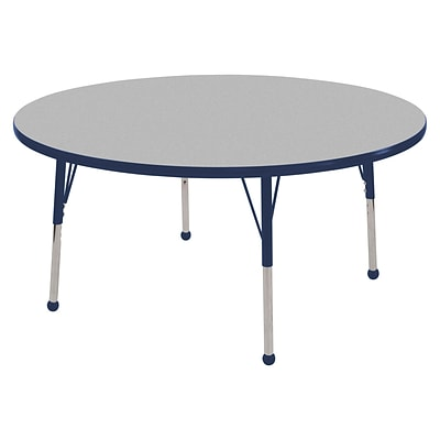 "30"" Round T-Mold Activity Table, Grey/Navy/Toddler Ball"