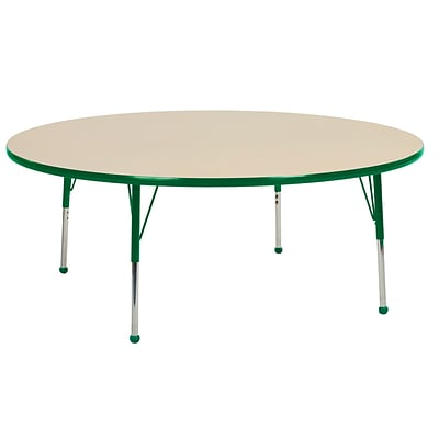 "60"" Round T-Mold Activity Table, Maple/Green/Standard Ball"