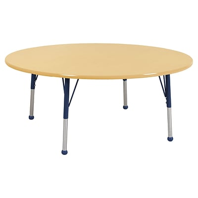 "60"" Round T-Mold Activity Table, Maple/Maple/Navy/Toddler Ball"