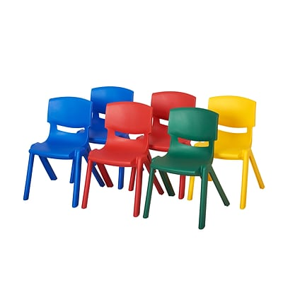 ECR4Kids 16 Assorted Resin Chair Pack (ELR-15137-AS)