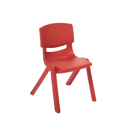 ECR4Kids 14 Resin School Stack Chair - Red (ELR-15414-RD)