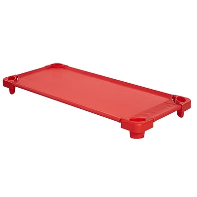 ECR4Kids Standard Stackable RTA Kiddie Cot- Red (ELR-16127-RD)