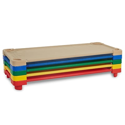 ECR4Kids Standard Stackable Kiddie Cot, 5-Piece Assorted Color (ELR-16129-AS)