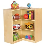 ECR4Kids Birch 36 Corner Storage Unit, Natural (ELR-17208)
