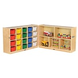 ECR4Kids Fold and Lock 20 Tray Cabinet with 30 Storage- AS (ELR-17217-AS)